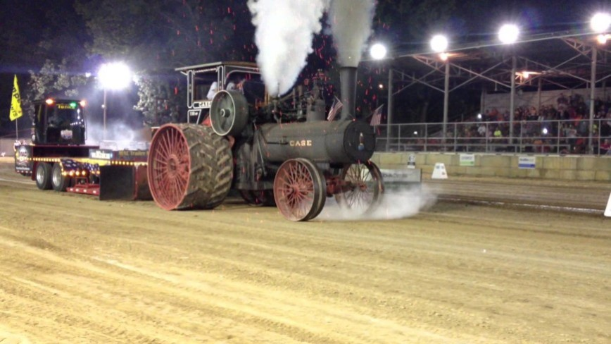 Ultimate Torque Machine 110HP Case Steam Tractor Makes it Rain FIRE