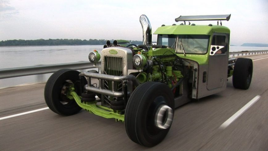 Cummins 300 big cam custom Peterbilt rat rod SEMI truck