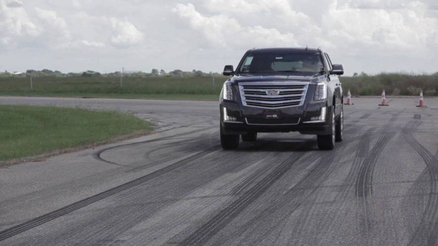 Hennessey tests their HPE800 supercharged Cadillac Escalade, track & dyno testing