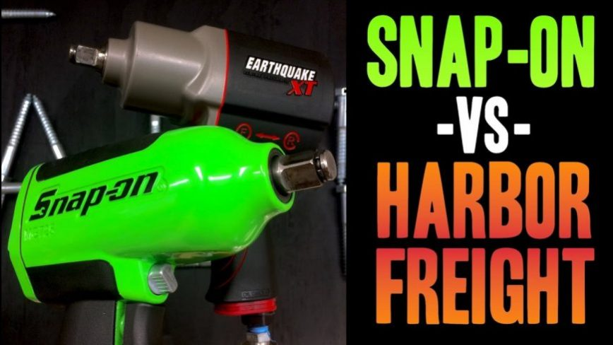 Impact Wrench Comparison - Snap on VS Harbor Freight