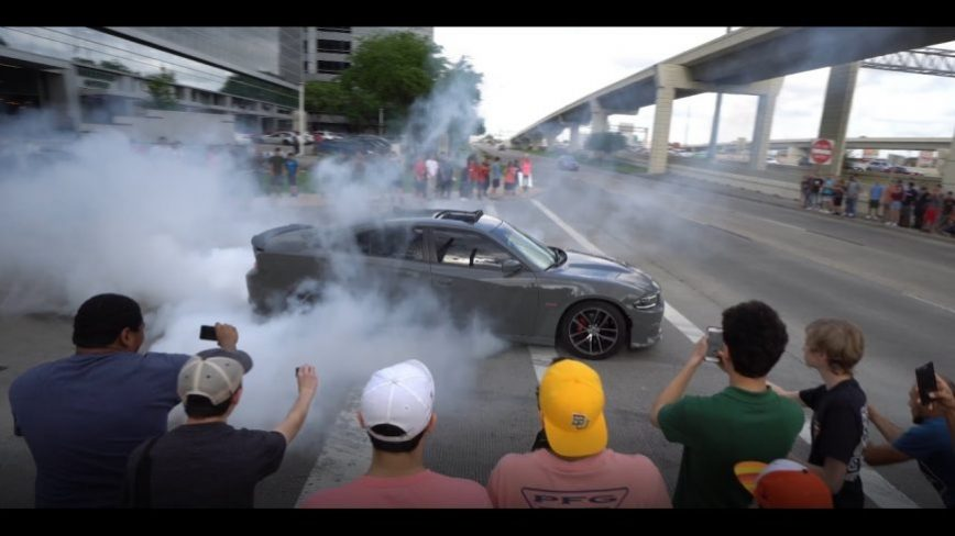 Burnouts in Front of Cop...AND GETTING AWAY! How Did They Manage That?