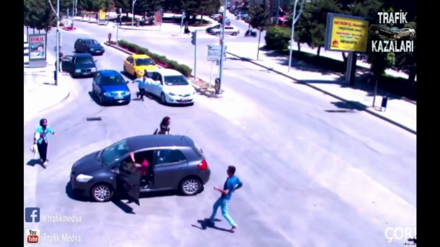 It Doesn't Get Much Dumber Than This - Driver Almost Runs Over Own Child