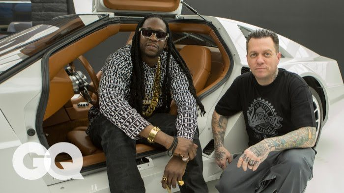 2 Chainz Geeks Out Over a $500K DeLorean by West Coast Customs