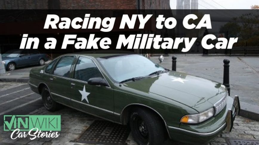 These Guys Raced Across The Country in a Fake Military Vehicle