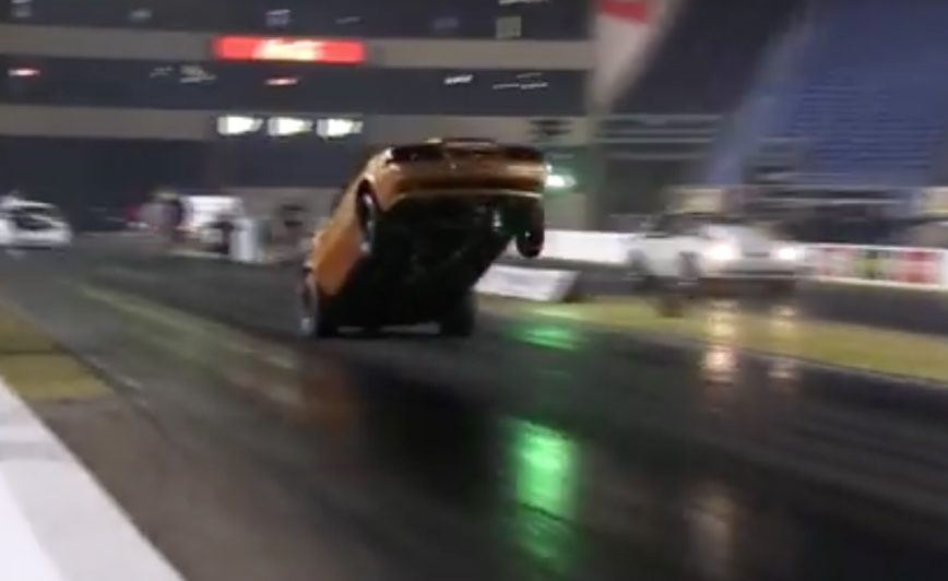 Riding The Bumper For The WIN! Mustang Sends It!