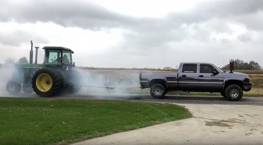 Testing The Strength Of Duct Tape With A Diesel Truck And A Tractor