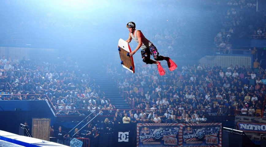 Nitro Circus, And Their Crazy Contraptions They Launch On The Big Air Ramp