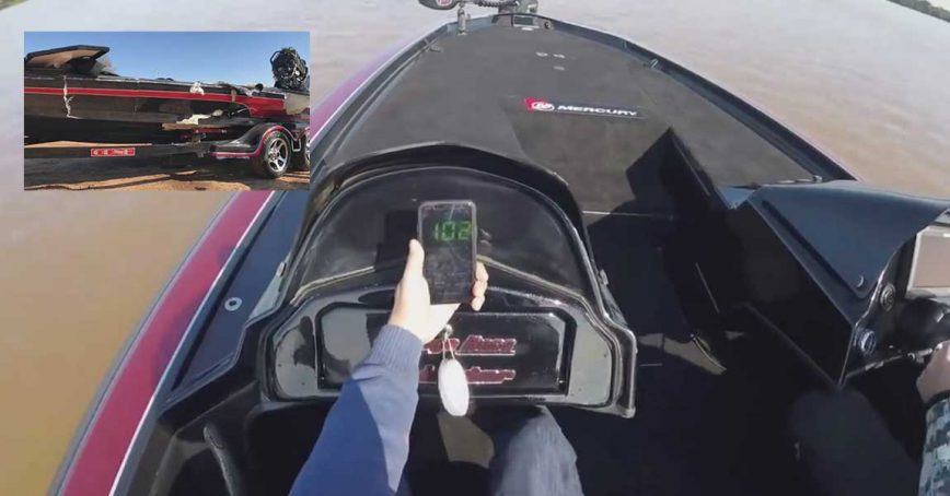 Bass Boat!? Man Attempts To Break 106 MPH Record, Crashes At 102 MPH