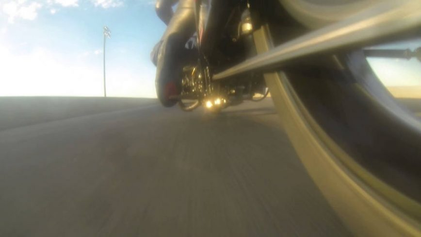 Up Close View Of A Drag Bike's Chain At 211 MPH Is Slightly Terrifying