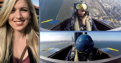 Reporter Flies With the Blue Angels - *Spoiler* She Pukes and Passes Out
