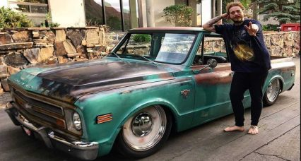 The patina-painted Chevy pickup ticks all the right boxes and joins a 1967 Lincoln Continental, among several others, in the star's garage.