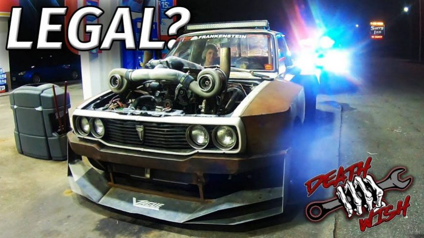 COPS LOVE the Twin Turbo LS DEATHWISH HILUX