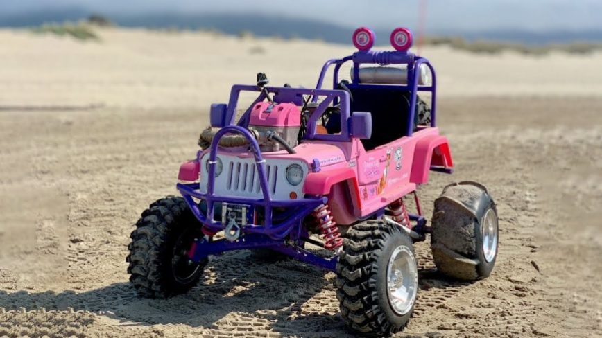 450cc Barbie Jeep Hits the Dunes With a Vengeance