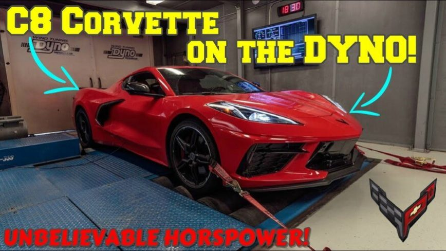Reverse False Advertising? C8 Corvette WAY Over Delivers on the Dyno
