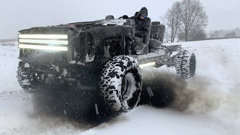 Build A Duramax Go-Cart And Then They Took It Out To Play In The Snow!