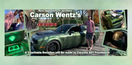 Philadelphia Eagles QB Carson Wentz Selling His Eagles Themed Dodge Demon