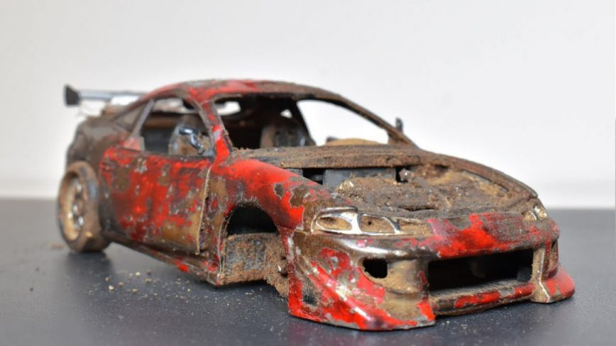 Restoring an Abandoned and Destroyed Mitsubishi Eclipse Model Car is Rather Therapeutic