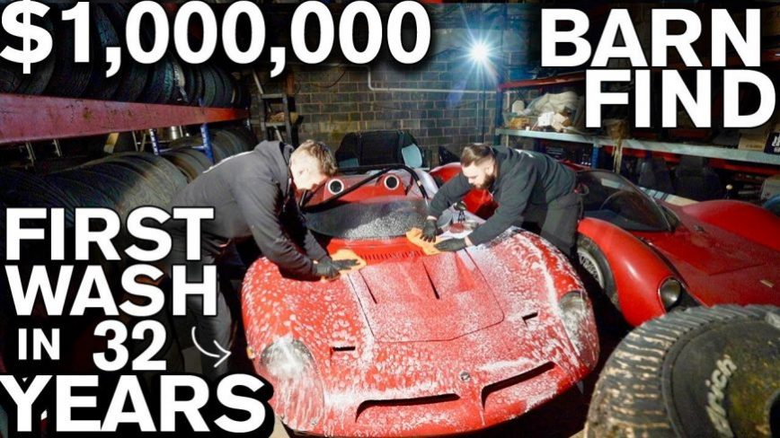 Washing a Million-Dollar Barn Find For the First Time in 32 Years