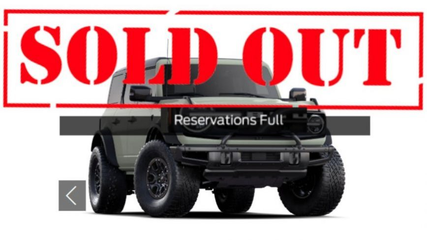 First Edition 2021 Bronco Sold Out in Less Than 12 Hours, Too Much Traffic Crashed Ford's Website