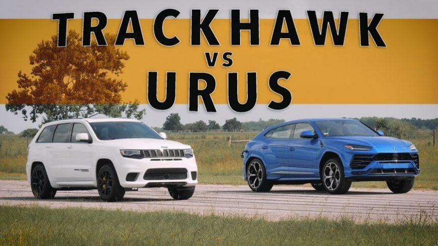Jeep Trackhawk Takes on Lamborghini Urus in All-Out Drag Race