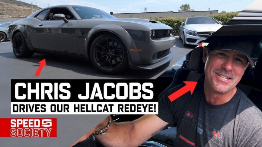 "Chris Jacobs of ""Overhaulin"" Lays Into the Throttle of Speed Society's 1100HP Redeye Hellcat Giveaway Car"