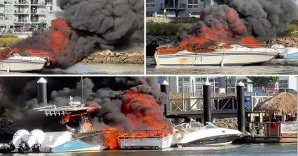 Bad Day Gets Worse as Boat Engulfed in Flames Sets Other Boats on Fire