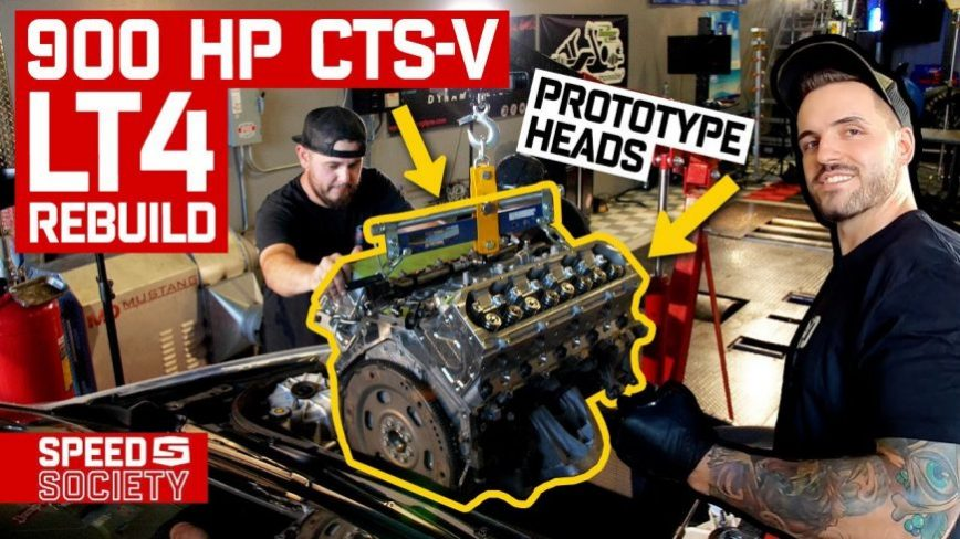 Rebuilding A 900hp CTS-V Engine In Less Than 24 Hours