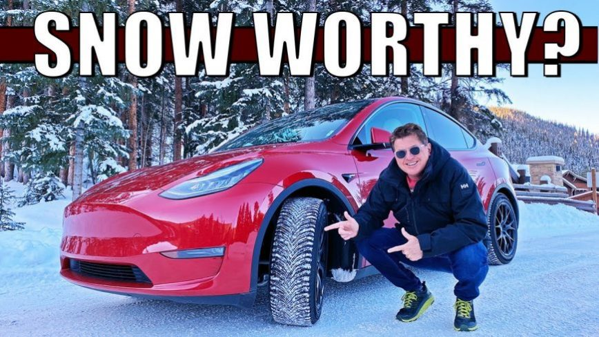 Tesla in The Snow... How Does It Do?